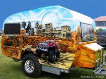 Wohnwagen mit Airbrush-Motiv von shark24