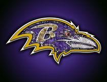 Baltimore Ravens Football Art Print by Fairchild Art Studios