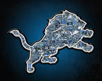 Detroit Lions Football Art Print by Fairchild Art Studios