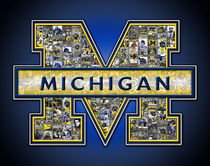 University of Michigan Wolverines Football Art Print von Fairchild Art Studios