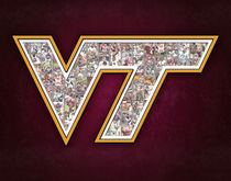 Virginia Tech Hokies Football Art Print by Fairchild Art Studios