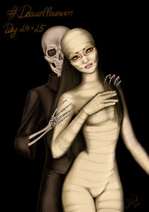 mummy and skeleton von Oxana DiaDa
