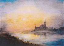 Abendstimmung über der Burg by Lieselotte Finke-Poser