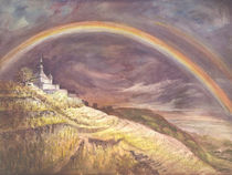 Spitzhaus mit Regenbogen von Lieselotte Finke-Poser