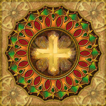 Mandala Illuminated Cross by Bedros Awak