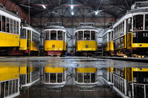 Yellow Trams, Lisboa, Portugal by Joao Coutinho