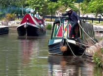 Barges on Trent von Andrew Michael