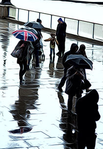 London in the rain by Andrew Michael