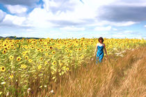 girl in sunflower field by Andrew Michael