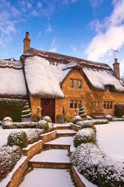 A-cottage-snow-4oil