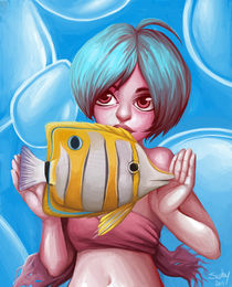 pink fish eye by sushy