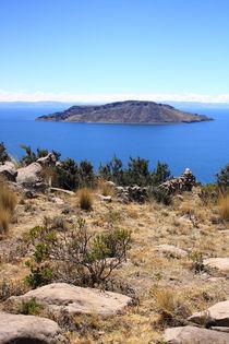 Insel im weltberühmten Titikakasee, Peru by mellieha