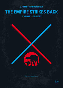 No155 My STAR WARS Episode V The Empire Strikes Back minimal movie poster von chungkong