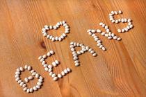 Weisse Bohnen in Herzform  von lizcollet
