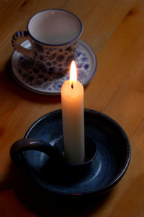Coffee and Candle Light Time by lizcollet