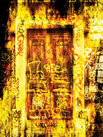 Street art door by Guy Jean Genevier