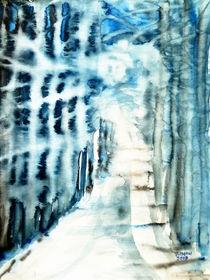 Allee im Winter von Irina Usova