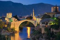 Mostar & Blue Hour by Luis Henrique de Moraes Boucault
