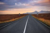 Iceland Road & Sunset by Luis Henrique de Moraes Boucault