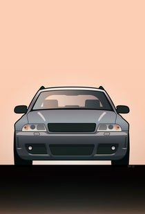 Modern Euro Icons Car Series Audi Rs4 A4 Avant Quattro B5 von monkeycrisisonmars