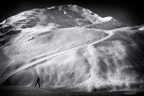 Berge und Skipiste im Pitztal Österreich