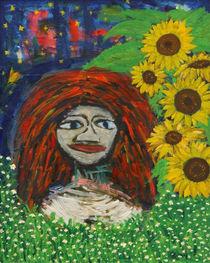 Frau mit roten Haaren von Cebo Seyb
