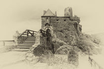 Burg Thurant - Eingang s/w 2 von Erhard Hess