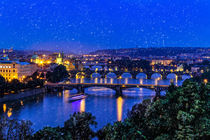 Bridges of Prague at blue hour von ebjofrie