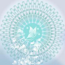 Schmetterling und Mandala von Nina Baydur