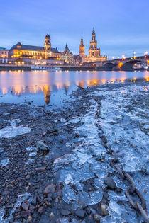 Dresden at Winter von Christine Büchler