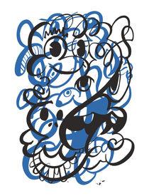 Doodle of the day – blue version von favati