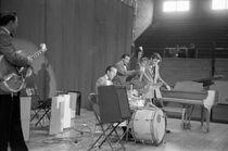 Elvis Presley on stage 1956 by Phillip Harrington