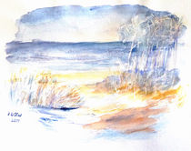 Winter am See von Irina Usova