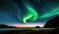 Sunset and Northern light von Stein Liland