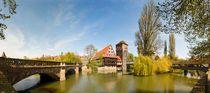 Nürnberg, Nuremberg, Panorama, Maxbrücke, Weinstadel, Henkersteg von Norbert Probst