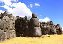 Ruine der Inka-Festung Sacsayhuaman in Peru
