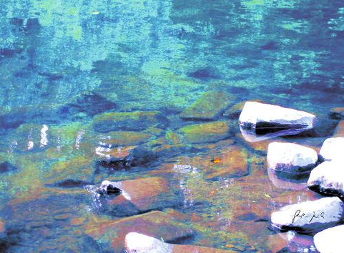 Wasserblau