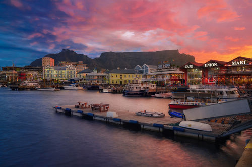 Cape-town-and-sunset-time