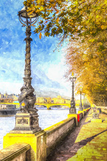 River Thames Path Art von David Pyatt