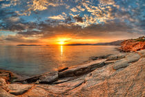 The sunset in Andros, Greece by Constantinos Iliopoulos
