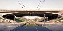 Brücke an der Messe Leipzig by Roland Hemmpel