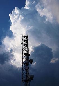 Antenna and thunderclouds by Vladislav Romensky