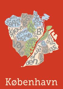 Copenhagen Typographic Poster by Benny Thaibert