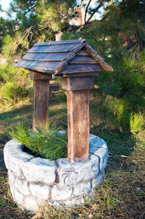 Decorative stone well in the park by Vladislav Romensky
