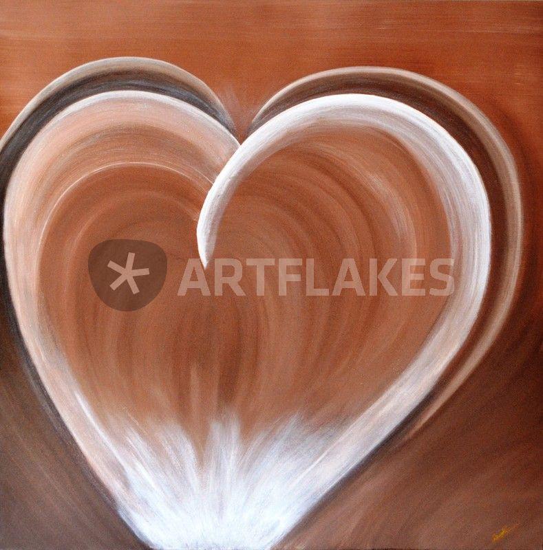 herz malerei als poster und kunstdruck von renate m nch bestellen artflakes com. Black Bedroom Furniture Sets. Home Design Ideas