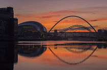 River Tyne Sunset by David Pringle