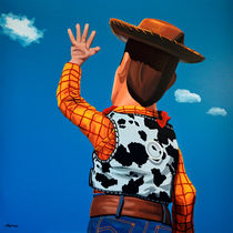 Woody of Toy Story painting by Paul Meijering