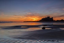 Bamburgh Castle Sunrise by David Pringle