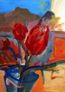 rote Tulpen by Dieter Greubel