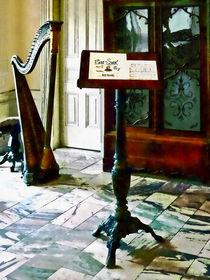 Music Room With Harp by Susan Savad